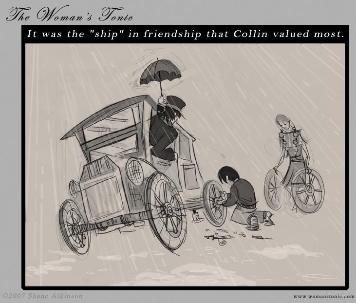 It was the 'ship' in friendship that Collin valued most.